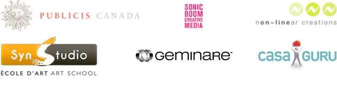 Publicis Canada / SonicBoom Creative Media / non-linear creations / SynStudio / geminare /  casaGuru