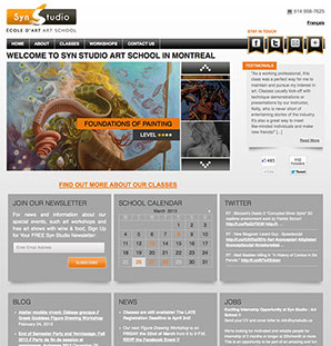 Wordpress Theme for Art Studio
