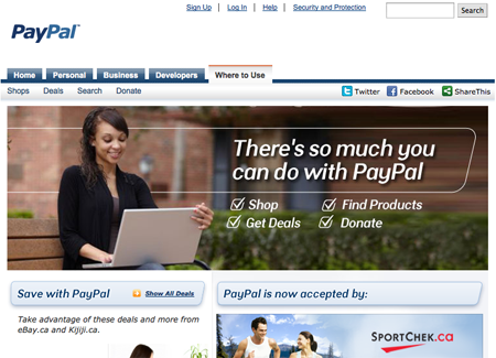 Paypal - Where to use