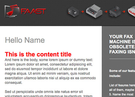 HTML Email Front-End Development