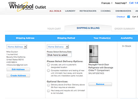 Web Development - Whirlpool Outlet